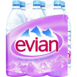 EAU EVIAN 150 CL  LE PACK DE 6
