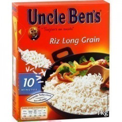 RIZ UNCLE BEN'S 10 MN BOITE DE 1 KG