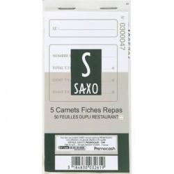 CARNET 50 DUPLI  FICHE REPAS X 5