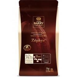 CHOCOLAT BLANC PISTOLLES ZEPHIR BARRY 34%