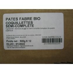 COQUILLETTES BIO 1/2 COMPLET LE CT DE 12 X 500 G