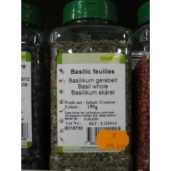 BASILIC FEUILLES BTE DE 150 GR