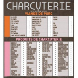 TARIF CHARCUTERIE 60/90