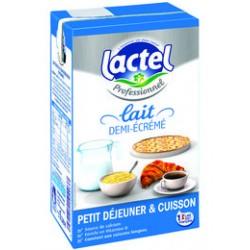 LAIT UHT 1/2 ECREME 1L LE PACK DE 6